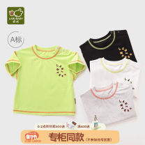 T-shirt Labi baby / Rabbi 73cm 80cm 90cm 100cm 110cm currency summer Short sleeve Crew neck leisure time There are models in the real shooting nothing cotton Solid color Cotton 95% polyurethane elastic fiber (spandex) 5% Spring 2021 6 months 12 months 18 months 2 years 3 years 4 years old