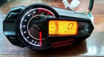 Motorcycle instrument Zongshen Single meter + induction wire + 2 magnet inductor fixed connection iron sheet LCD watch