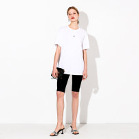 Women's large Summer 2021 Atmospheric black, versatile white, romantic purple, fresh green, grey temperament 2XL (size 42-44), 4XL (size 46-48), 6xl (size 50), l (size 38-40) T-shirt singleton  commute moderate Socket Short sleeve Korean version Crew neck routine DS-5213X April 9th 25-29 years old