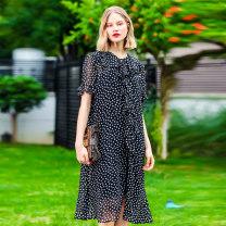 Women's large Summer 2020 Transparent black with sling, love with sling 2XL (size 42-44), 4XL (size 46-48), 6xl (size 50), l (size 38-40) Dress singleton  commute Socket Korean version DS-4737L April 9th 25-29 years old