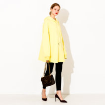 Women's large Spring 2021 The bright yellow of Chao grade is white, handsome and cool, and the atmosphere is black XL (size 40), 2XL (size 42), 3XL (size 44), 4XL (size 46), 5XL (size 48), 6xl (size 50), l (size 38) Sweater / sweater singleton  commute Socket Korean version DS-5105W April 9th