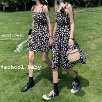 Dress Summer 2020 8539 long, 8540 short Average size Mid length dress singleton  commute Broken flowers Socket A-line skirt camisole 18-24 years old Korean version 51% (inclusive) - 70% (inclusive)