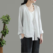 Wool knitwear Spring 2021 Average size White, red, black, khaki, coffee Long sleeves singleton  Cardigan cotton More than 95% Regular routine commute easy V-neck routine Single breasted