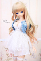 BJD doll zone loose coat 1/3 Over 14 years old Pre sale Full set of 3:00, dark denim coat, light color coat as shown in the picture 3 points, recommended 24-27 chest circumference CLS Deep V Chiffon suspender skirt