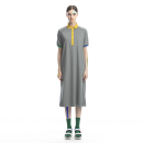 Dress Summer 2020 grey S,M,L,XL Mid length dress singleton  Short sleeve street other Loose waist Solid color Socket other raglan sleeve Others 25-29 years old Type H Heartidea / Fangcun creative Pockets, stitching 81% (inclusive) - 90% (inclusive) other cotton Sports & Leisure