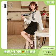 skirt Spring 2021 XS S M L black Short skirt commute High waist Pleated skirt Solid color 25-29 years old Oece lady Same model in shopping mall (sold online and offline)