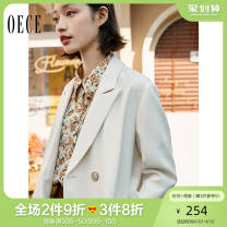 suit Spring 2021 Beige XS S M L Long sleeves routine Self cultivation tailored collar Single breasted commute routine Solid color 211NR247 25-29 years old 91% (inclusive) - 95% (inclusive) polyester fiber Oece Polyester fiber 93.1% polyurethane elastic fiber (spandex) 6.9%