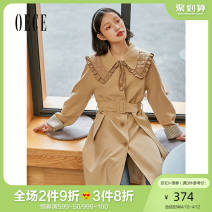 Windbreaker Spring 2021 XS S M L Khaki Long sleeves routine Medium length commute Single breasted other routine Solid color Self cultivation lady Oece 25-29 years old 31% (inclusive) - 50% (inclusive) polyester fiber Same model in shopping mall (sold online and offline)