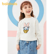 Sweater / sweater 90cm 100cm 110cm 120cm 130cm cotton female Vanilla white 1700 Bala leisure time There are models in the real shooting Socket routine Crew neck nothing Ordinary wool Cartoon animation Cotton 100% other Long sleeves Autumn of 2019 spring and autumn Chinese Mainland