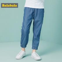 trousers мужчина Barabara Cowboy Light Blue 0810 брюки дикий Летний сезон Кожаный пояс джинсы Средняя талия Реальные снимки с моделями Не открывать