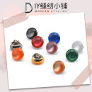 Button Jujiale White, black, red, yellow, blue, green, orange, light gray, Fuchsia, brown Pack of 5 Cat's eye button free Chinese Mainland Zhejiang Province