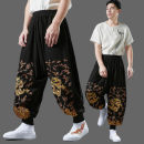 Casual pants Mafan cloth clothes Fashion City black Average size routine trousers Other leisure easy spring youth Chinese style 2021 middle-waisted Little feet Haren pants Embroidery