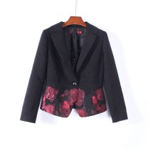 short coat Spring of 2019 36,38 black 30-34 years old Other / other 96% and above