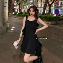 Dress Summer 2021 Shirt, suspender skirt Average size Short skirt Two piece set Sleeveless commute other High waist Solid color Socket Pleated skirt other camisole 18-24 years old Type A Korean version fold 51% (inclusive) - 70% (inclusive)