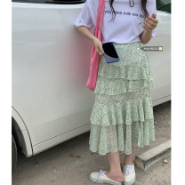 skirt Summer 2021 Average size Milk tea T, cake skirt Mid length dress commute High waist Cake skirt 18-24 years old 51% (inclusive) - 70% (inclusive) Korean version