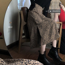 skirt Spring 2021 S,M,L White, coffee Mid length dress commute High waist A-line skirt Leopard Print Type A 18-24 years old 51% (inclusive) - 70% (inclusive) other Other / other other Korean version