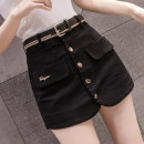 Jeans Spring 2021 Apricot, black S,M,L,XL,2XL shorts 18-24 years old Wash, button, other 6 13 2 Other / other 81% (inclusive) - 90% (inclusive)