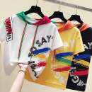T-shirt White, black, yellow S,M,L,XL,2XL Summer 2021 Short sleeve Hood easy Regular routine commute cotton 31% (inclusive) - 50% (inclusive) 18-24 years old Korean version Other / other 5 19