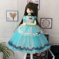 BJD doll zone Dress 1/4 Over 3 years old goods in stock Skirt + apron + headdress + Necklace 1 / 4BJD size