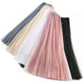 skirt Summer of 2019 Mid length dress dream High waist A-line skirt Solid color Type A Sequins, gauze