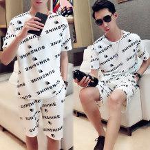 Leisure sports suit summer 4XL (190-210 kg) 5XL (210-235 kg) ml XL 2XL 3XL White black Social spirit Short sleeve shorts teens T-shirt XSJ-TZX2 Polyester Polyester 100% two thousand and eighteen