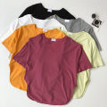 T-shirt Red, gray, black, white, orange, Matcha green Average size Summer 2021 Short sleeve Crew neck easy Regular routine commute other 51% (inclusive) - 70% (inclusive) 18-24 years old Korean version Solid color