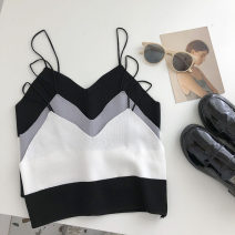 Vest sling Summer 2021 Black, white, grey Average size singleton  have cash less than that is registered in the accounts Self cultivation commute camisole Solid color 18-24 years old 51% (inclusive) - 70% (inclusive) backless