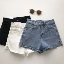 Jeans Summer 2021 White, black, blue S,M,L shorts High waist Wide legged trousers routine 18-24 years old