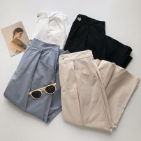 skirt Summer 2021 S, M Blue, black, white, apricot Mid length dress commute High waist Solid color Type A 18-24 years old 51% (inclusive) - 70% (inclusive) Korean version