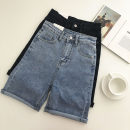 Jeans Summer 2021 Blue, black S,M,L Pant High waist Straight pants routine 18-24 years old 51% (inclusive) - 70% (inclusive)