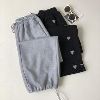Casual pants Gray, black Average size Summer 2021 trousers Straight pants High waist commute routine 18-24 years old 51% (inclusive) - 70% (inclusive) Korean version pocket