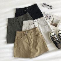 Casual pants White, black, khaki, army green S,M,L Autumn 2020 shorts Wide leg pants High waist commute routine 18-24 years old 51% (inclusive) - 70% (inclusive) Korean version