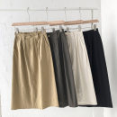 skirt Summer 2021 Average size Black, white, khaki, coffee longuette commute High waist Solid color Type A 18-24 years old 51% (inclusive) - 70% (inclusive) pocket Korean version