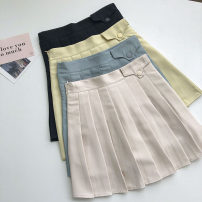 skirt Summer 2021 S,M,L Short skirt commute High waist Solid color Type A 18-24 years old 51% (inclusive) - 70% (inclusive) Korean version