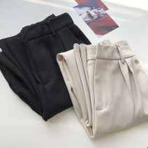 Casual pants Black, apricot S,M,L,XL Summer 2021 trousers Straight pants High waist commute routine 18-24 years old 51% (inclusive) - 70% (inclusive) Korean version pocket