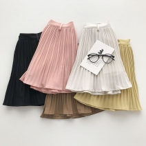 skirt Summer 2021 S,M,L Yellow, black, white, pink, coffee Short skirt commute High waist Solid color Type A 18-24 years old 51% (inclusive) - 70% (inclusive) fold Korean version