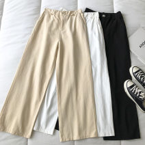 Casual pants White, black, apricot S,M,L Spring 2021 trousers Straight pants High waist commute routine 18-24 years old 51% (inclusive) - 70% (inclusive) Korean version pocket