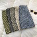 skirt Spring 2021 S,M,L Yellow grid, white grid, gray grid, green grid, blue grid Short skirt commute High waist lattice Type A 18-24 years old 51% (inclusive) - 70% (inclusive) zipper Korean version
