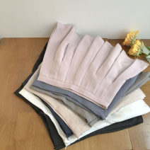 skirt Summer 2021 S,M,L,XL Short skirt commute High waist Solid color Type A 18-24 years old 51% (inclusive) - 70% (inclusive) zipper Korean version