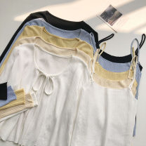 Fashion suit Summer 2021 Average size Yellow, apricot, black, blue, white 18-25 years old