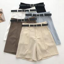 Casual pants S,M,L Summer 2021 Pant Wide leg pants High waist commute routine 18-24 years old 51% (inclusive) - 70% (inclusive) Korean version belt