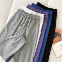 Casual pants Black, white, gray, blue, purple, pink Average size Spring 2021 trousers Haren pants High waist commute routine 18-24 years old 51% (inclusive) - 70% (inclusive) Korean version pocket