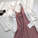Dress Summer 2021 Pink Average size Mid length dress singleton  Sleeveless commute Solid color Socket camisole 18-24 years old Type H Korean version 51% (inclusive) - 70% (inclusive)