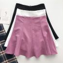 skirt Summer 2021 S,M,L Black, white, rose pink Short skirt commute High waist Solid color Type A 18-24 years old 51% (inclusive) - 70% (inclusive) Korean version