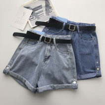 Jeans Summer 2021 Dark blue, light blue S,M,L shorts High waist Wide legged trousers routine 18-24 years old 51% (inclusive) - 70% (inclusive)