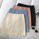 skirt Spring 2021 S,M,L Black, apricot, blue, orange pink Short skirt commute High waist Solid color Type A 18-24 years old 51% (inclusive) - 70% (inclusive) zipper Korean version