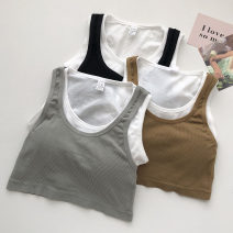 Vest sling Summer 2021 Grey, khaki, black Average size singleton  have cash less than that is registered in the accounts Self cultivation commute straps Solid color 18-24 years old 51% (inclusive) - 70% (inclusive)
