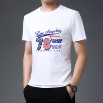 T-shirt Fashion City Gray, black, red, white thin M,L,XL,2XL,3XL,4XL,5XL Others Short sleeve Crew neck standard Other leisure summer Cotton 95% other 5% youth routine tide Cotton wool 2021 Alphanumeric printing cotton Animal design No iron treatment Non brand More than 95%