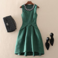 Dress Spring 2021 Green, black S,M,L,XL,2XL Mid length dress singleton  Sleeveless street Crew neck middle-waisted Solid color zipper A-line skirt routine Others 30-34 years old Type A left lady Nail bead, zipper L1811031 More than 95% other other Europe and America
