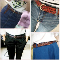 Belt / belt / chain other female leisure time 2cm Other / other Three strand weaving S38 - imported black, d77 - imported yellow brown, b39 - imported jujube, c69 - imported deep coffee, T80 - imported camel, h39 - imported beige 1cm